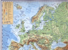 Evropa Politicka Mapa Evropa Fyzicka Mapa 1 17 000 000