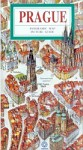 Prague - a panoramic map of the city centre and guide